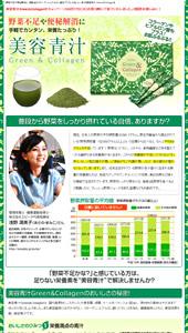 野菜不足や便秘解消に 美肌成分コラーゲン&ヒアルロン酸をプラスしたおいしい青汁 美容青汁 Green&Collagen|ランディングページ