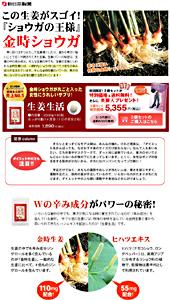 新日本製薬|生姜生活|ランディングページ