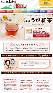 長寿の里|しょうが紅茶|ランディングページ